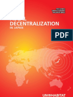 Fiscal Decentralization in Japan