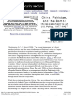 China Pakistan And the Bomb