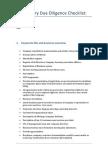 Preliminary Due Diligence Checklist