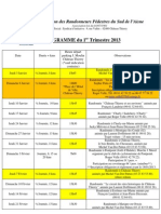 ARPSA. Programme 1er Trimestre 2013