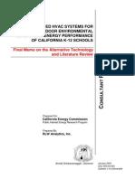 Adv HVAC Sys for Improving IAQ & E Pfm