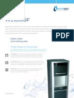 Waterlogic WL1000GF Water Dispenser Spec Sheet