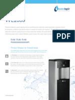 Waterlogic WL2500 Water Dispenser Spec Sheet