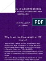 EVALUATION OF A COURSE DESIGN