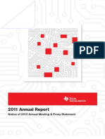 2011 Texas Instruments Financial Statement