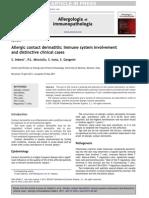 Allergic Contact Dermatitis Immune System Involvement