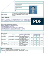 Resume of Ayaz Soomro