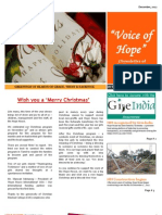 Voice of Hope - Newsletter of the Hope House