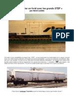 Modélisme ferroviaire à l'échelle HO. 13. Les grands wagons STEF. amélioration par Hervé Leclère
