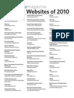 101 Best Websites 2010