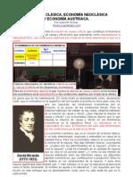 Economia Clasica, Economia Neoclasica y Economia Austriaca Por Israel M Kirzner