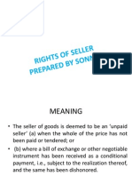 RIGHTS OF SELLER