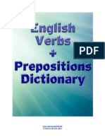 English Verbs + Prepositions Dictionary