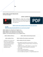 Adobe Audition System Requirements
