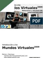 Introduccion a los Mundos Virtuales 2009