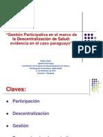 Descentralizacion y Participacion en Salud