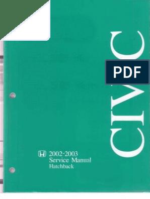 Honda Civic EP3 (02-03) Service Manual.pdf   Question ... on
