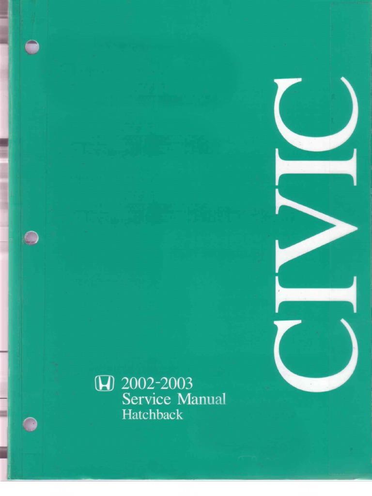 Honda Civic EP3 (02-03) Service Manual.pdf | Airbag | Leak