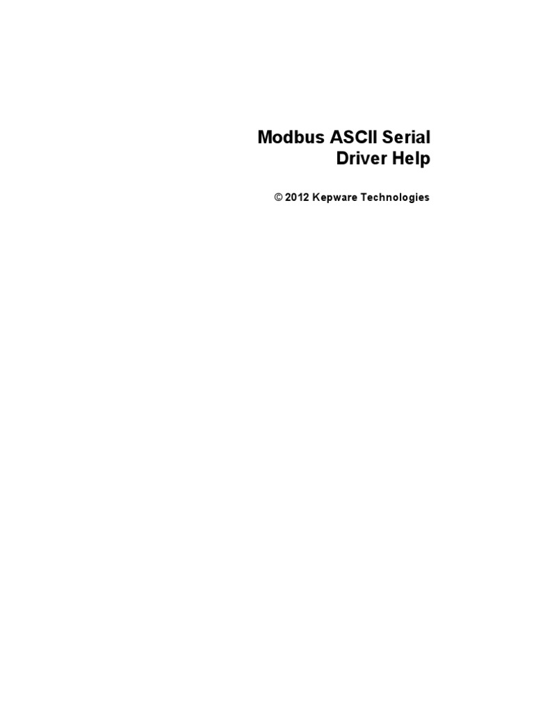 Modbus Ascii | String (Computer Science) | Data Type