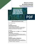 Masacre en Xoco  @ Cineteca Nacional (Programa de mano no oficial)