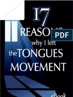 17 Reasons Why I Left the Tongues Movement