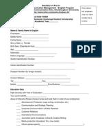Asean Scholarship Application