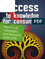 Access to Knowledge for Consumers