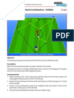 Spanish Academy Soccer Coaching Passing Drill