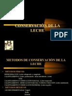 CONSERVACIÓN DE LA LECHE