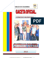 GACETA INFORMATIVA CONCEJO MUNICIPAL 2012