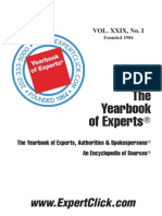 Yearbook of Experts -- 2013 -- 29th Annual
