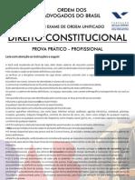 VIII Exame OAB - Prova Prático Profissional - Consitucional