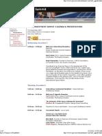 Space Investment Summit 3 Agenda - 12-5-07