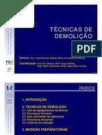 03 Técnicas de demolição