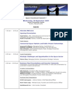 Space Investment Summit 7 Agenda - 9-30-09