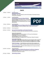 Space Investment Summit 8 Agenda - 5-26-10