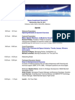 Space Investment Summit 9 Agenda - 5-18-2011