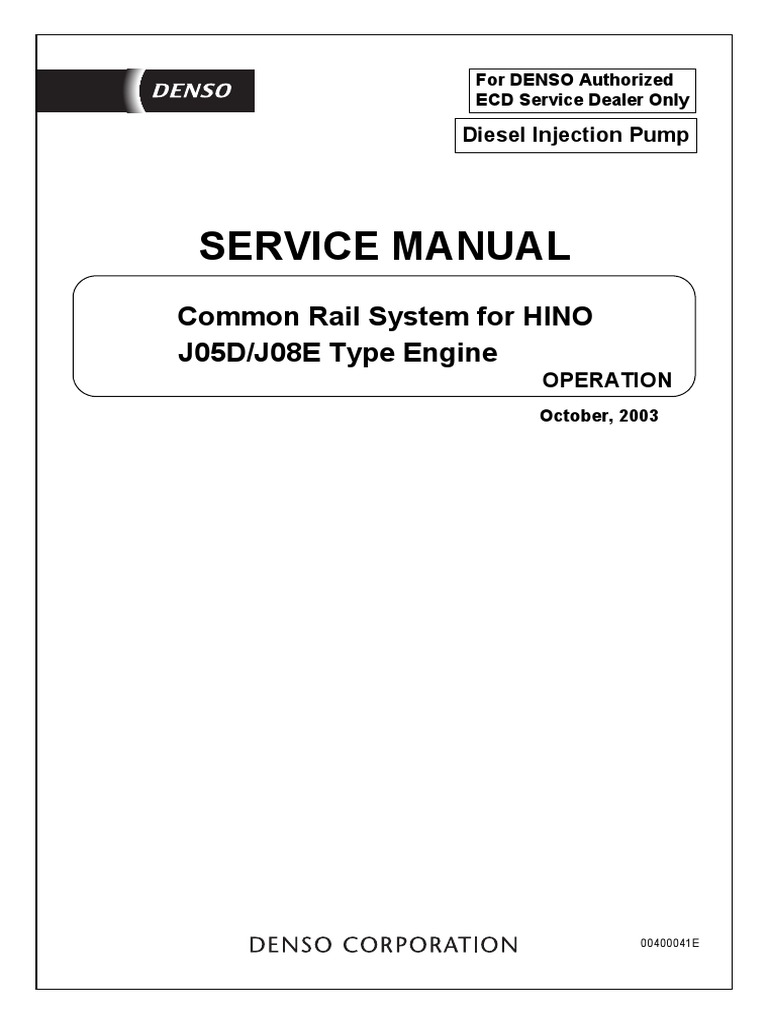 2007 Hino 268 Wiring Diagram: Fuel Injection ,Design