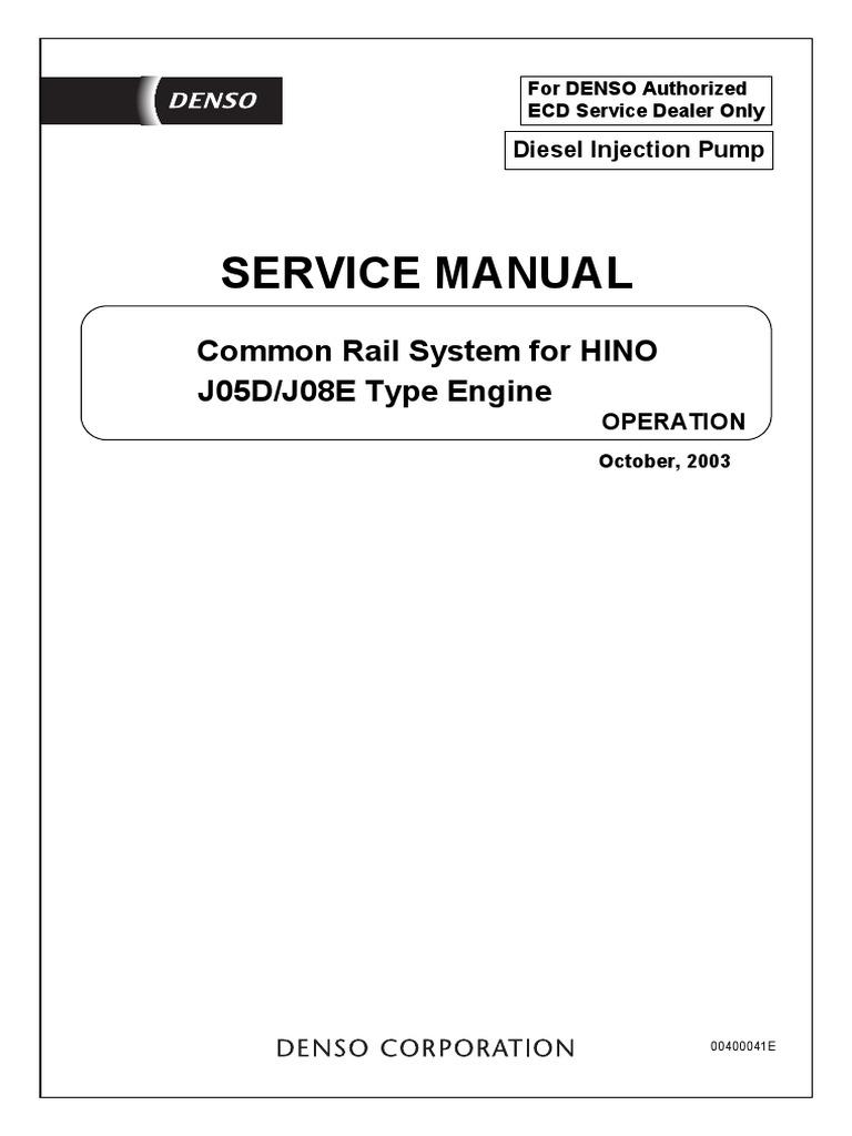 Hino Common Rail j05d-j08e | Fuel Injection | Throttle