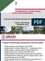 Pengembangan Pembangkit Listrik Biomas & Biogas Skala Kecil Di Indonesia