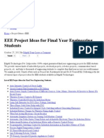 EEE Projects for Final Year Engineering Students _ EEE Project Ideas