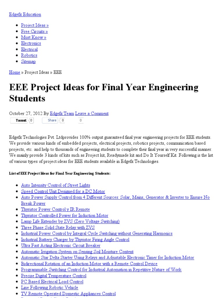 EEE Projects for Final Year Engineering Students _ EEE