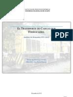 El transporte de cargas por ferrocarril