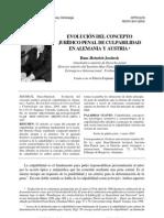 Evolucion de Lo Concepto Culpabilidad - Jescheck