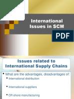 SCM - International Issues in SCM
