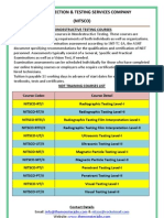 NDT Courses for FB