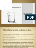 Leadership from a Glass Half-Full