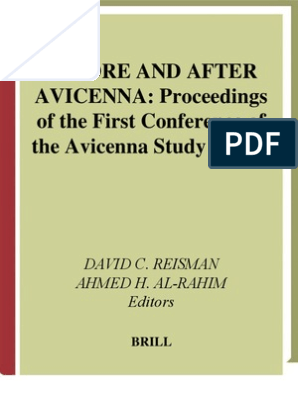 Before and After Avicenna Proceedings of the First