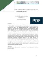 Evolución y desarrollo de un Entorno Personal de Aprendizaje en la  Universidad de León