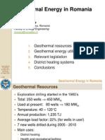 Geothermal Energy in Romania
